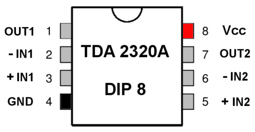 riaa винил корректор TDA2320A