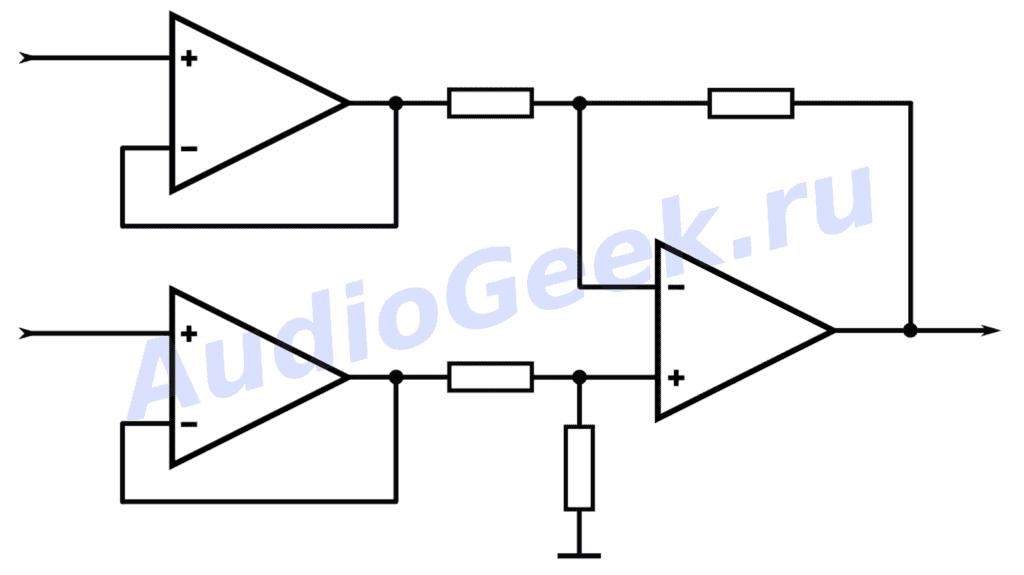 Схемы включения операционного усилителя схема5