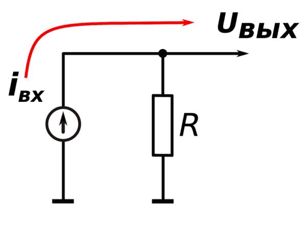 Преобразователь ток-напряжение на ОУ