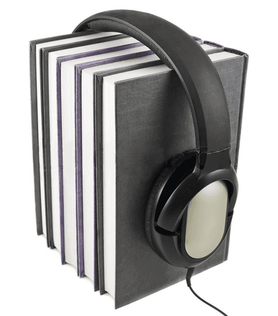 наушники на стопке книг - аудио термины