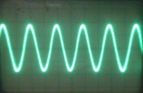 осциллограмма сигнала до активного выпрямителя