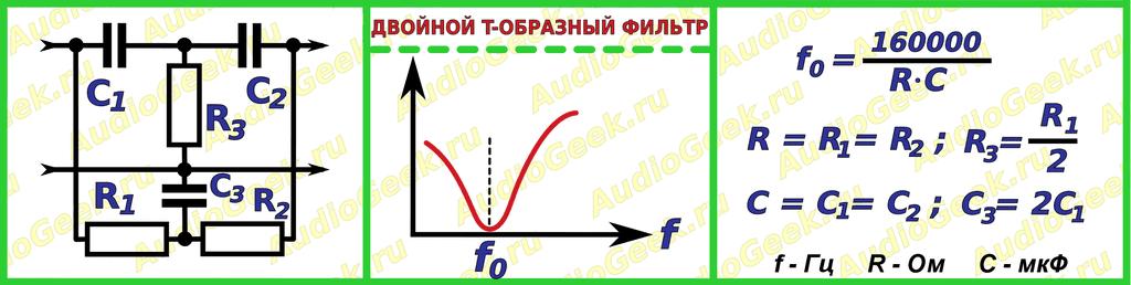 Двойной Т-образный фильтр - пробка