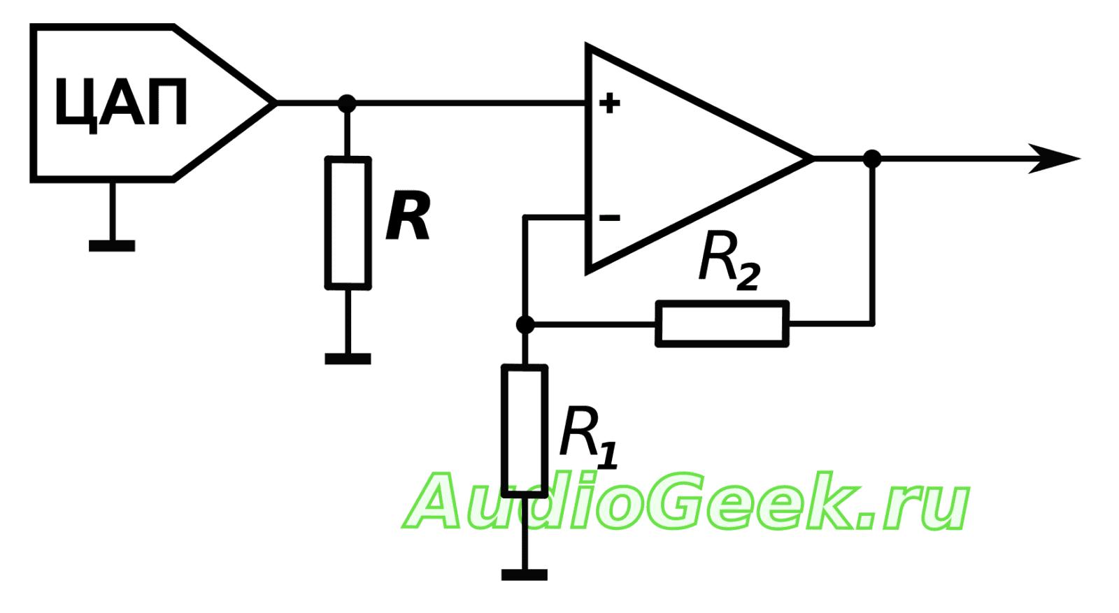 аналоговый выход цап, цап с токовым выходом схема