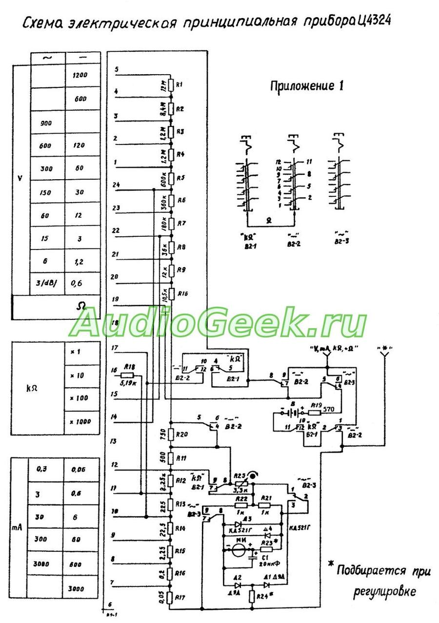 Ц4324 схема прибора