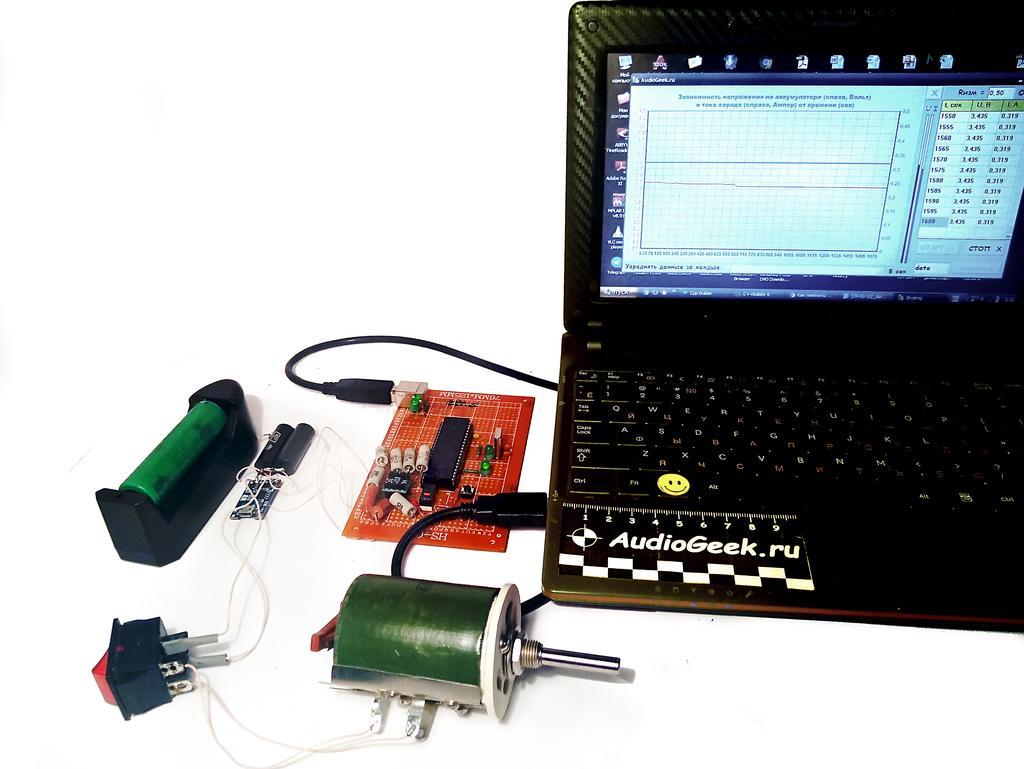 измерение модуля зарядки li ion